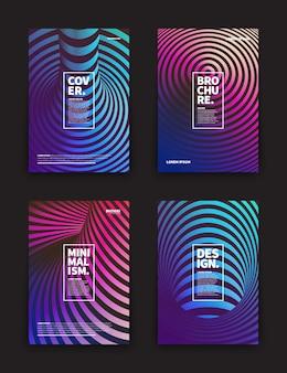 Verschiedene flyer vorlagen set