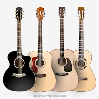 Verschiedene gitarrenarten