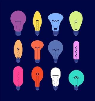 Verschiedene glühbirnen