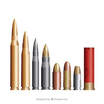 Verschiedene großkalibrigen munition