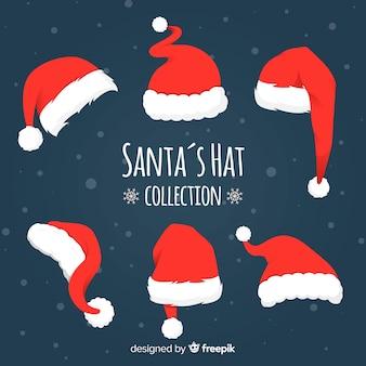 Verschiedene hüte von santa hut