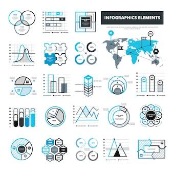 Verschiedene infografische elemente