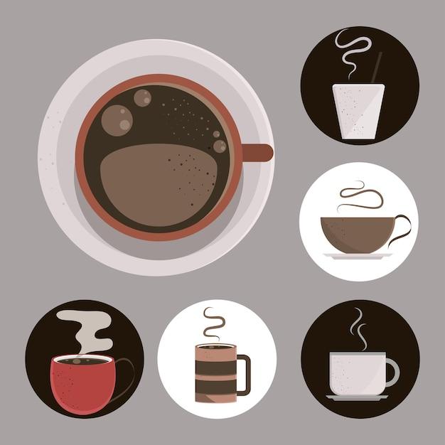 Verschiedene kaffeetassen