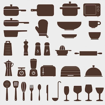 Verschiedene küchenikonen