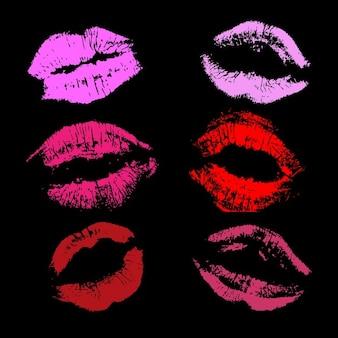 Verschiedene lippenstift drucke