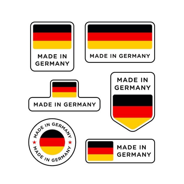 Verschiedene made in germany etiketten gesetzt