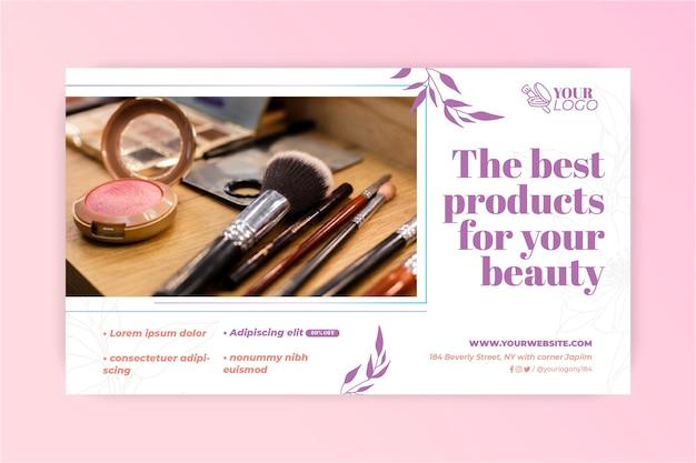 Verschiedene make-up pinsel banner