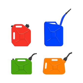 Verschiedene metall- oder kunststoffkanister benzinkanister benzinkanister