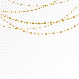 Verschiedene modelle und formen von goldperlen.