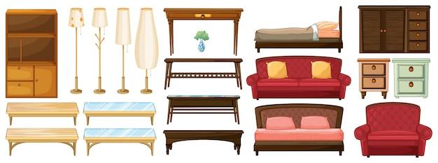Verschiedene möbel