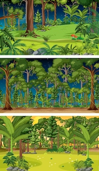 Verschiedene natur horizontale szenen