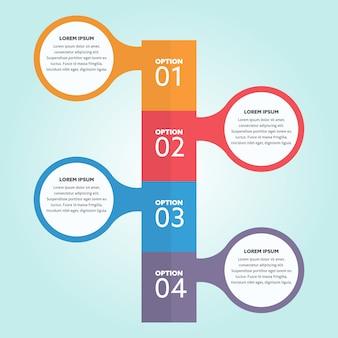 Verschiedene optionen infografisches design