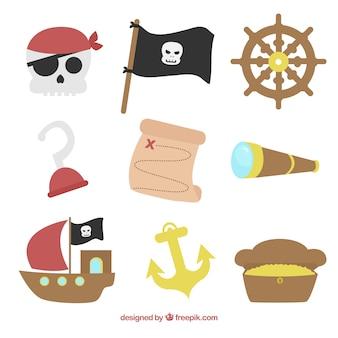 Verschiedene piratenelemente