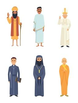 Verschiedene religionsführer