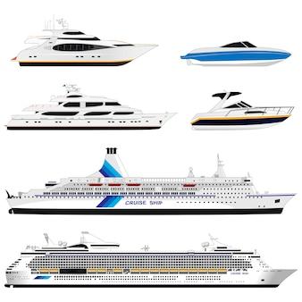 Verschiedene schiffe. einstellen