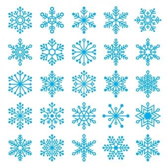 Verschiedene schneeflocken