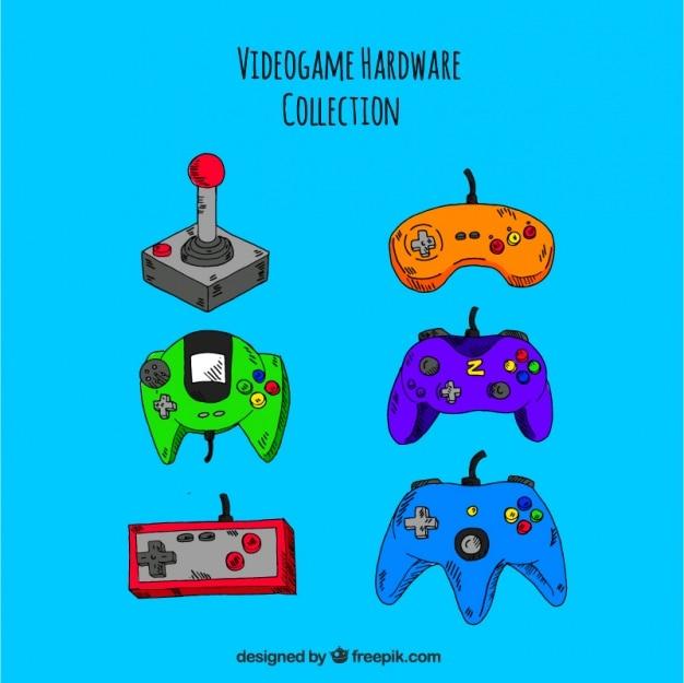 Verschiedene steuerungen für konsolen