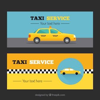 Verschiedene taxi banner
