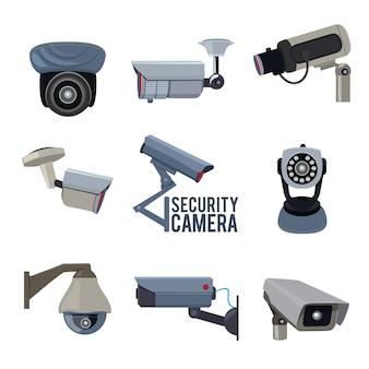 Verschiedene überwachungskameras