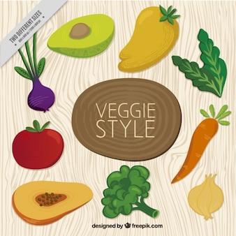 Verschiedene vegetarische kost