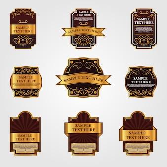 Verschiedene vintage-etiketten