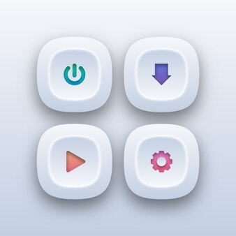 Verschiedene web-buttons im verlaufsstil