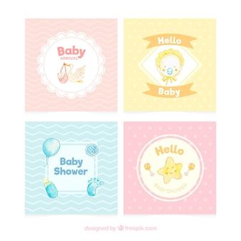 Verschiedene willkommens-babykarten