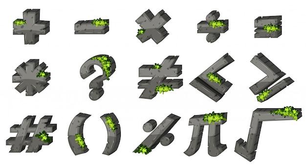 Verschiedene zeichen für mathematik