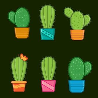 Verschiedener kaktusbaum