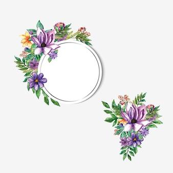 Verschiedener lila blumenstrauß für vorlage