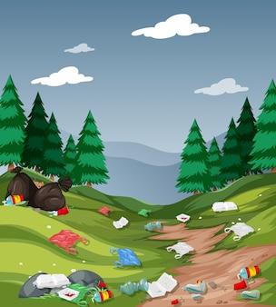 Verschmutzung im nationalpark