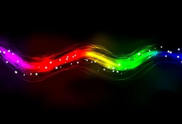 Verschwommen abstrakte neonspektrum lichteffekt hintergrund