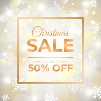 Verschwommene christmas sale deal