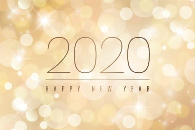 Verschwommene frohes neues jahr 2020