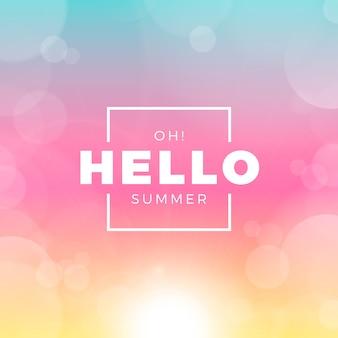 Verschwommene hallo-sommer-nachricht