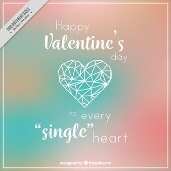 Verschwommene valentine hintergrund mit romantischen nachricht