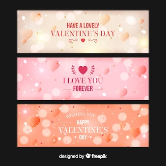 Verschwommene valentinsgrußfahne