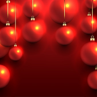 Verschwommene weihnachtskugeln