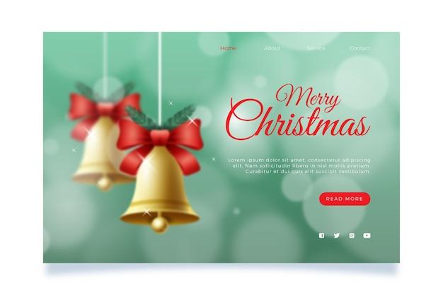Verschwommene weihnachtslandingpage