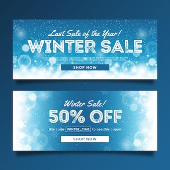 Verschwommene winterschlussverkauf banner vorlage