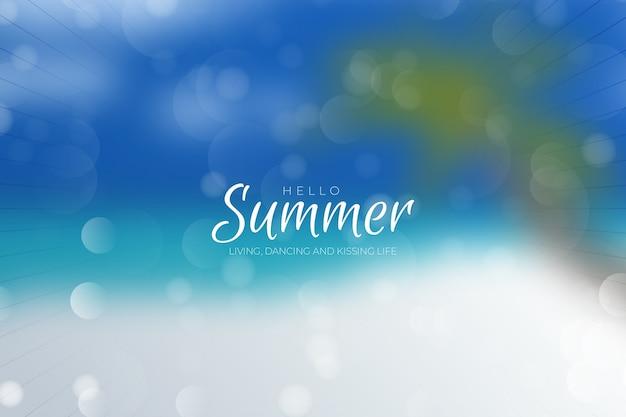 Verschwommener hallo-sommer-stil