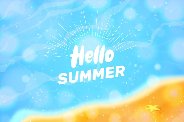 Verschwommener hallo sommer