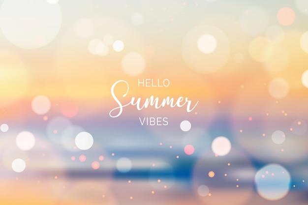 Verschwommener hallo-sommerhintergrund-bokeh-effekt