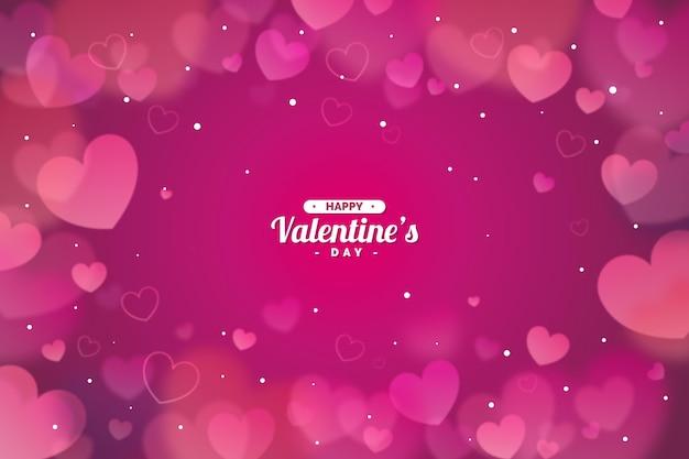 Verschwommener valentinstaghintergrund