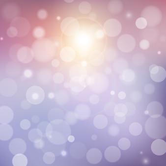 Verschwommener weicher hintergrund mit fotografischem bokeh-effekt. glatter, unscharfer filmeffekt. blasse romantische rosa und lila töne.