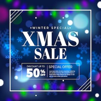 Verschwommener weihnachtsverkauf