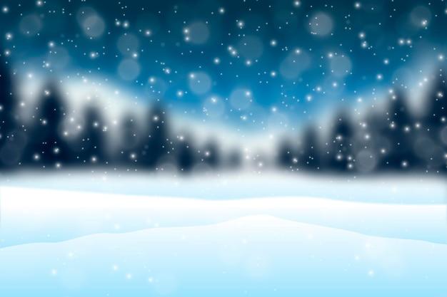 Verschwommener winterhintergrund