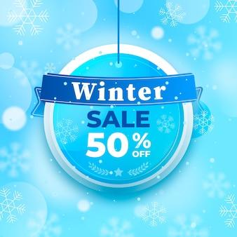 Verschwommener winterschlussverkauf