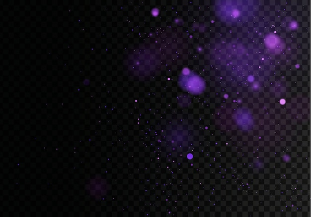 Verschwommenes bokeh-licht auf dunkelschwarzem, trübem hintergrund. und neujahrsfeiertage vorlage. abstraktes glitzern defokussierte blinkende sterne und funken.