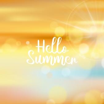 Verschwommenes hallo sommer design